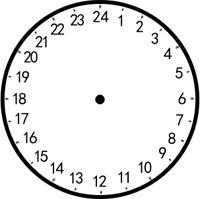 Pics Photos - 24 Hour Clock Face Without Hands